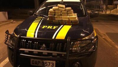 Casal é preso pela PRF com 25 kg de cocaína em Miranda (MS)