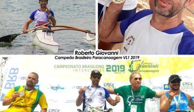 Atleta de Bonito (MS) é campeão brasileiro de paracanoagem em Brasília