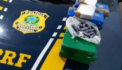 PRF encontra cocaína em tanque de combustível e casal é preso em Miranda