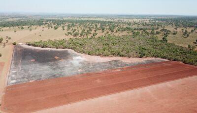 PMA de JARDIM autua infrator em R$ 15 mil por realizar incêndio em palhada de lavoura