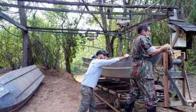 Instituto Homem Pantaneiro vistoria rio da Prata e encontra possíveis acampamentos de pescadores