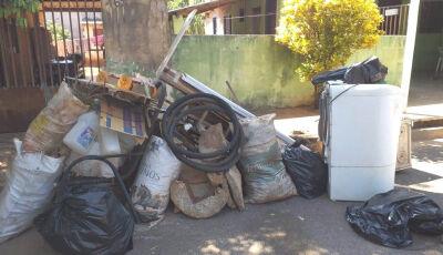 Saúde muda programação para recolhimento de lixo devido ao mau tempo em Bonito (MS)