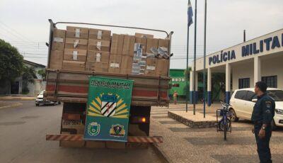 Polícia Militar apreende carga de cigarro e prende motorista pelo crime de contrabando em Bonito (MS