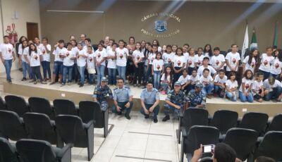 PM realiza formatura de Programa Educacional de Resistência as Drogas e a Violência em Bonito (MS)