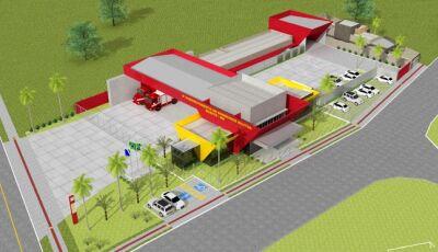BONITO: Construção do quartel do Corpo de Bombeiros segue em ritmo acelerado e dentro do cronograma