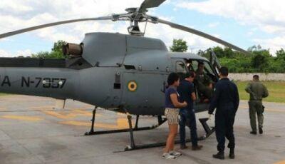 Jovem é levado de helicóptero para hospital após ser picado por cobra