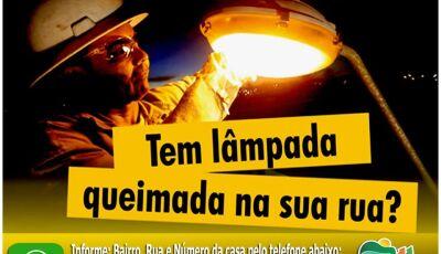 Tem lâmpada queimada aí?, fone WhatsApp é disponibilizado para informações em Bonito (MS)