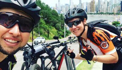 Ciclistas de MS pedalam mais de 750 km para chegar ao litoral catarinense