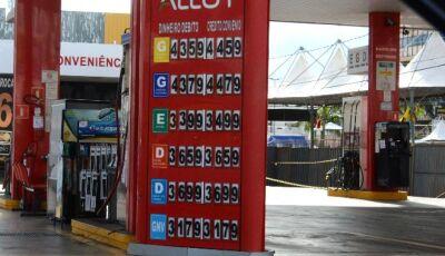 Com redução do imposto, Etanol fica em média R$ 9 centavos mais barato em MS