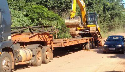 Prefeitura realiza recuperação emergencial da estrada do Sucuri em Bonito (MS)