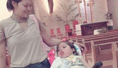 Em Maracaju, Mulher pede ajuda para realizar almoço beneficente para criança com paralisia cerebral