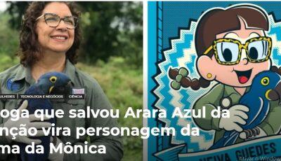Bióloga que salvou Arara Azul da extinção vira personagem da Turma da Mônica