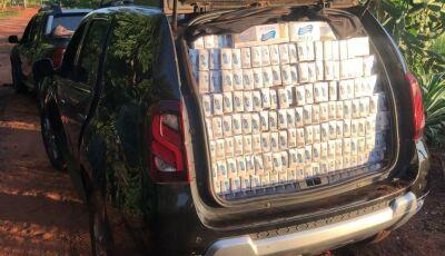 Veículos furtados com agrotóxicos e cigarros contrabandeados são apreendidos em Bonito (MS)