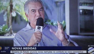 Reinaldo Azambuja zera cobrança de água de famílias de baixa renda por três meses
