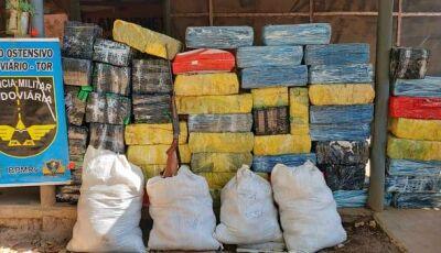 Mais de 1t de maconha é apreendida em lanchonete utilizada como entreposto da droga