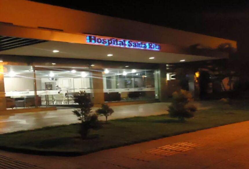 Hospital Santa Rita, onde homem de 45 anos morreu hoje em decorrência da covid-19 (Foto: Divulgação) - CREDITO: CAMPO GRANDE NEWS
