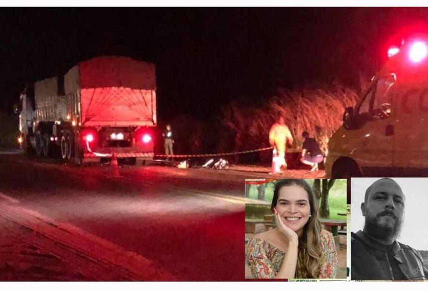 Daniani Lopes Alves, de 35 anos, estava na garupa da moto que era pilotada pelo seu primo Roni Wesley Lopes Bueno, de 34 anos.