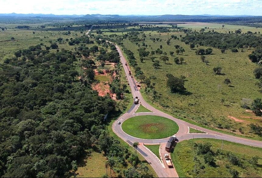Trevo da MS-382 com a MS-178: Estado investe na melhoria da malha viária e liga a região à fronteira e ao Pantanal