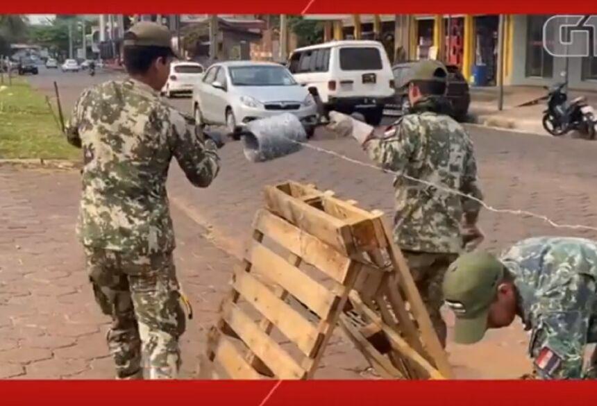 Exército paraguaio reforça segurança na fronteira com o Brasil - FOTO: G1/MS