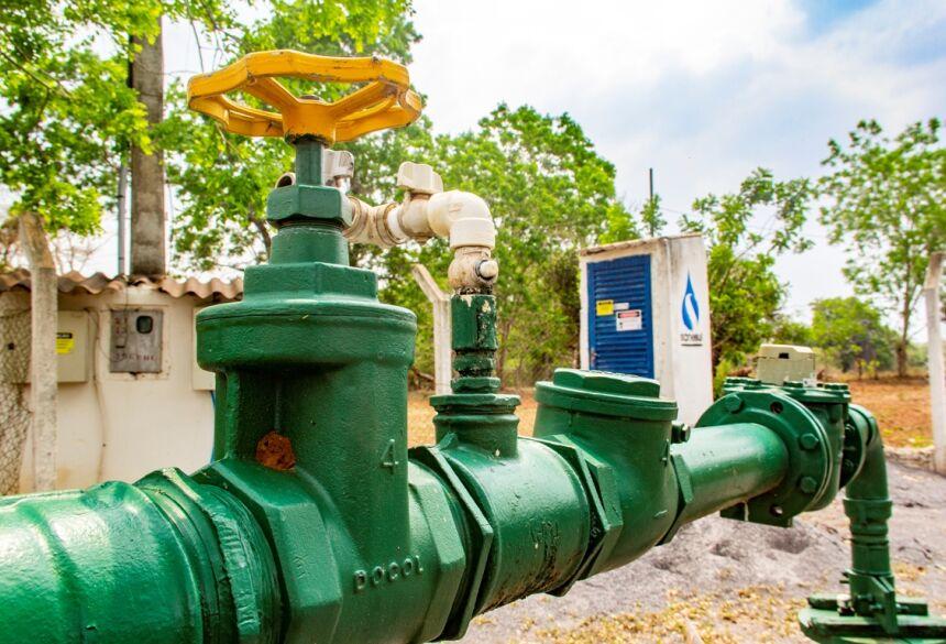 Descarga na rede consiste em circular a água na tubulação por um curto período para que seja feita a limpeza de resíduos