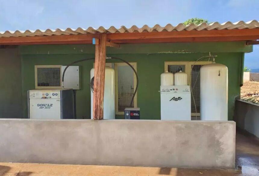 Mini usina de oxigênio alugada pela prefeitura de Rio Negro (Foto: Divulgação/Prefeitura de Rio Negro)