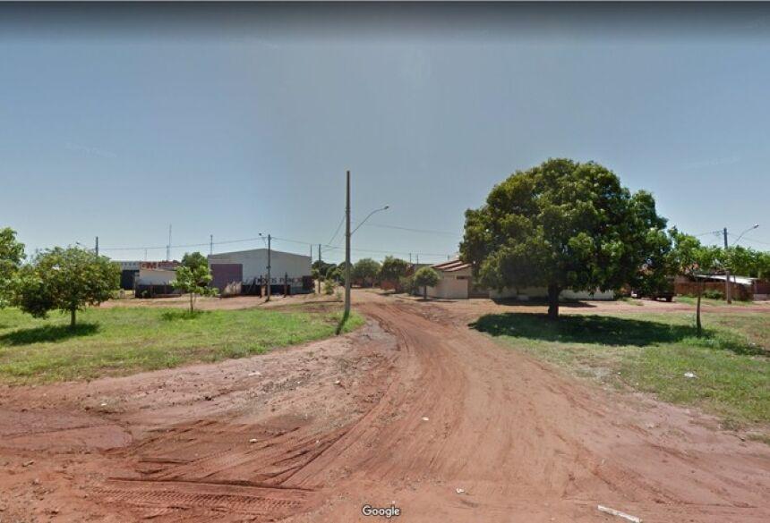 Rua em que crime foi registrado, em Bataguassu (MS)  Foto: Google Street View/Reprodução