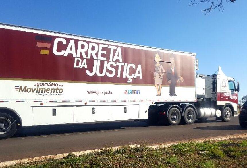 Carreta da Justiça atende população de municípios onde não há comarca - Foto: Divulgação