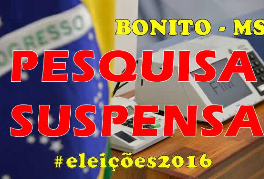 Justiça Eleitoral supende divulgação de pesquisa do candidato Odilson Soares do PSDB em BONITO