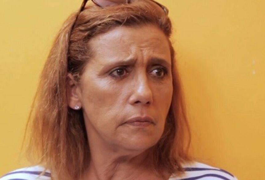 A atriz e ex-chacrete Rita Cadillac em entrevista ao webprograma de Rafinha Bastos