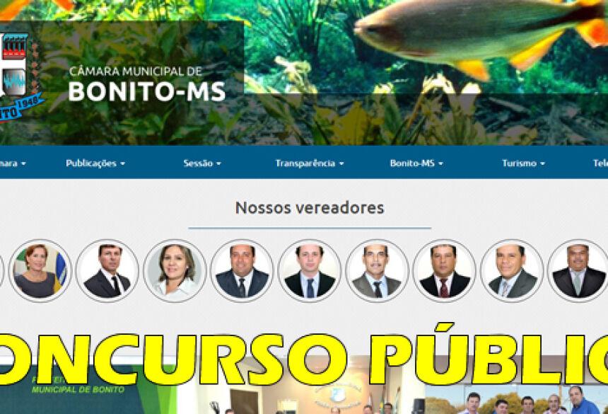 BONITO: Após 26 anos, Câmara realiza concurso público, Saiba como fazer as inscrições pelos sites