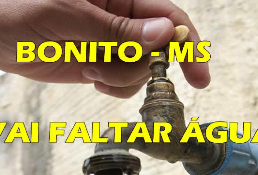 Em função de reparos, 5 bairros devem ficar sem água nesta segunda-feira em BONITO