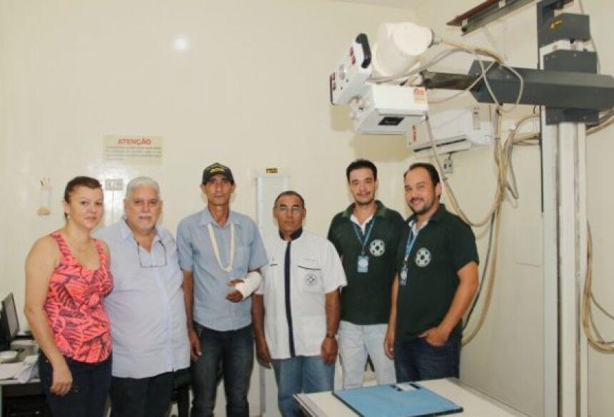 FOTO: JABUTY - Raios 'X' recebe peças novas e já está funcionando no Hospital Darci João Bigaton