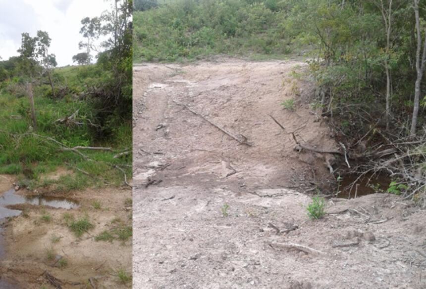 FOTO: PMA - PMA autua fazendeiro em R$ 22,5 mil por desmatar mata ciliar e exploração de madeira