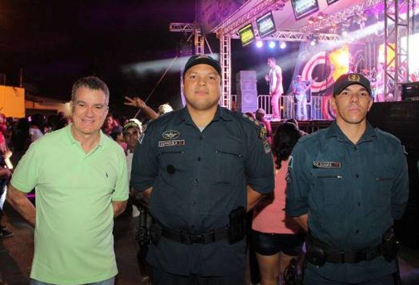 FOTO: JABUTY - Secretário de Turismo, Augusto Mariano, no detalhe com a Polícia Militar no 1º dia do Eco Folia