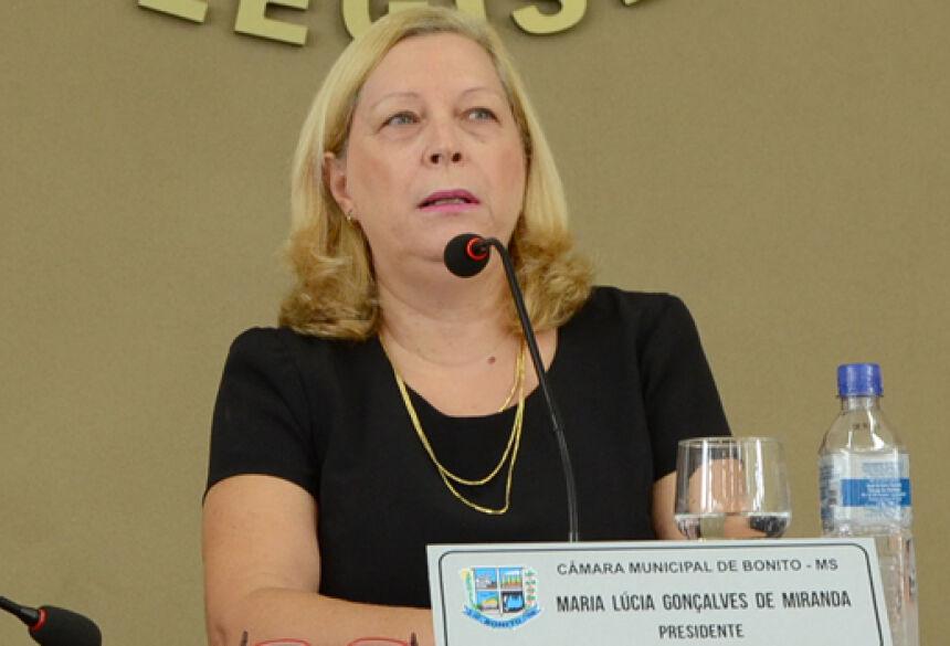 FOTO: ROGÉRIO SANCHES / BONITO INFORMA - Lucia pede criação da Casa da Mulher voltada para o auxílio nos casos de violência