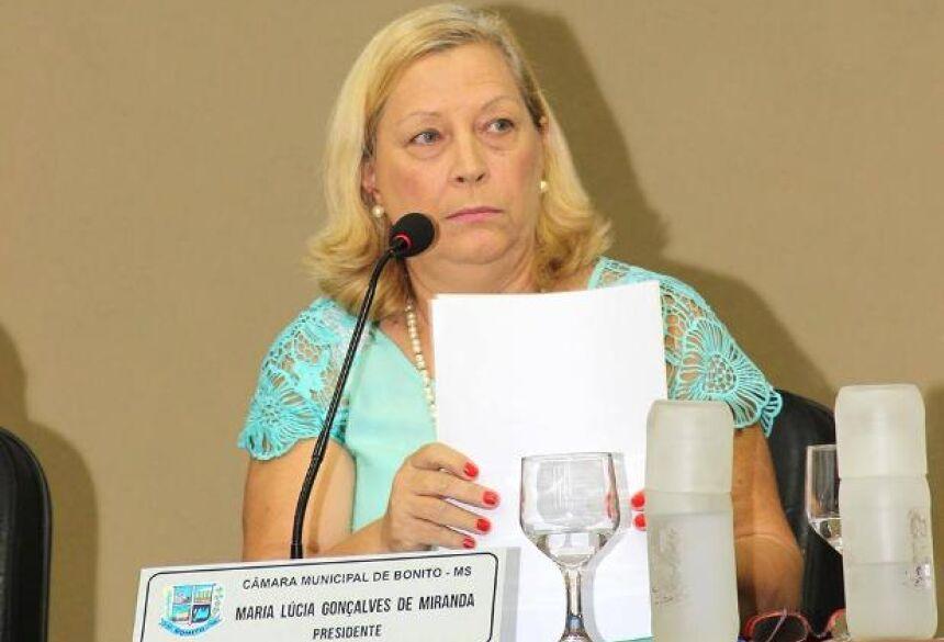 Vereadora Lúcia Miranda pede a instalação do Banco do Cidadão em BONITO