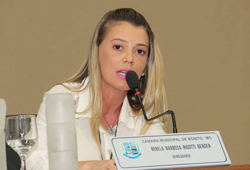Vereadora Mirela quer ronda da Guarda Municipal durante a madrugada em BONITO