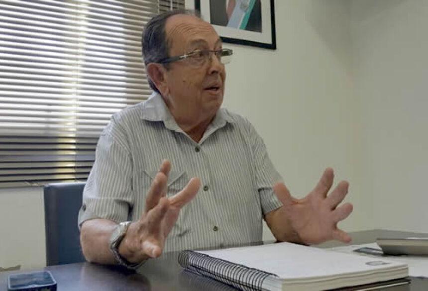 FOTO: ROGÉRIO SANCHES / BONITO INFORMA - Prefeito Odilson Arruda - Em seu gabinete na prefeitura municpal