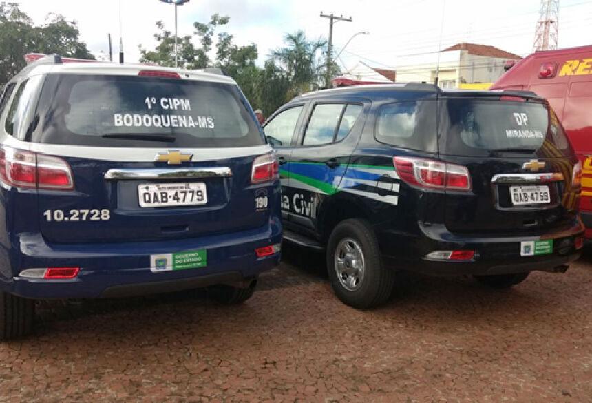 Bodoquena e Miranda e mais 3 municípios recebem viaturas, ao todo foram entregues 12 viaturas