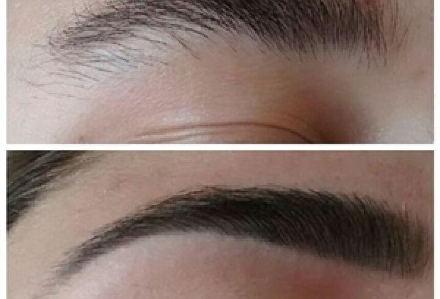 Foto: Técnica de designer de sobrancelhas