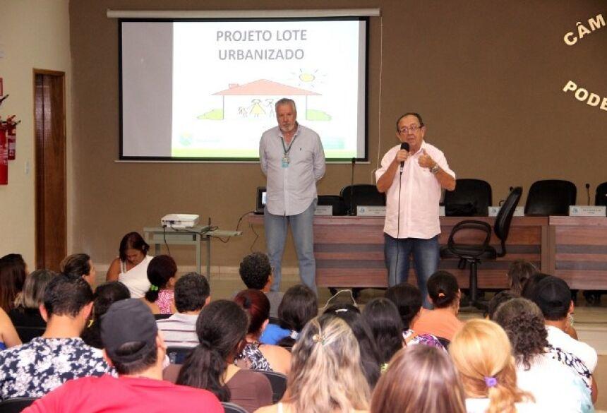 FOTO: JABUTY - Reunião debate construção do Loteamento Social Rio Mimoso em Bonito