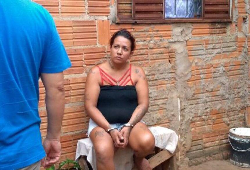 Autora foi presa em flagrante. - Foto: Celso Daniel/Patrulha News