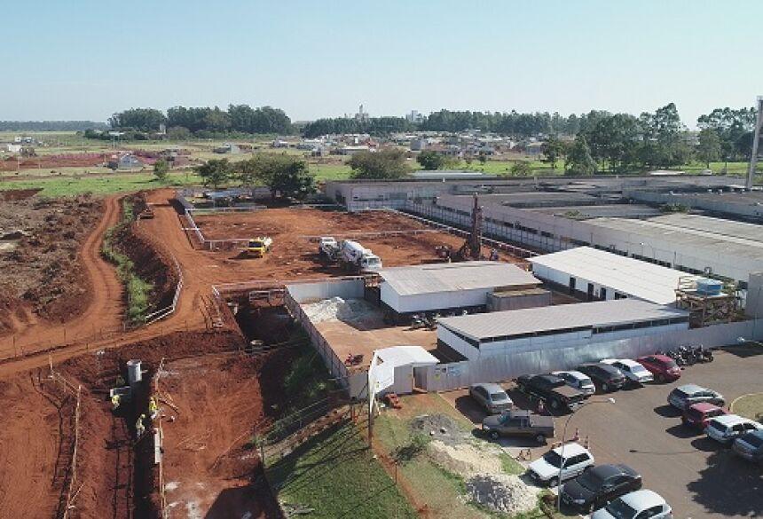 Obras de terraplanagem estão aceleradas no canteiro de obras do futuro Hospital da Mulher e da Criança, anexo ao HU