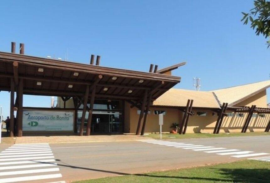Governo do MS fortalece turismo e investe R$ 4 milhões em obras no Aeroporto de Bonito