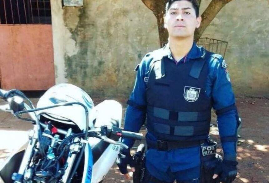 Policial militar morto na madrugada deste domingo (dia 10). (Foto: Robertinho/Maracaju Speed).