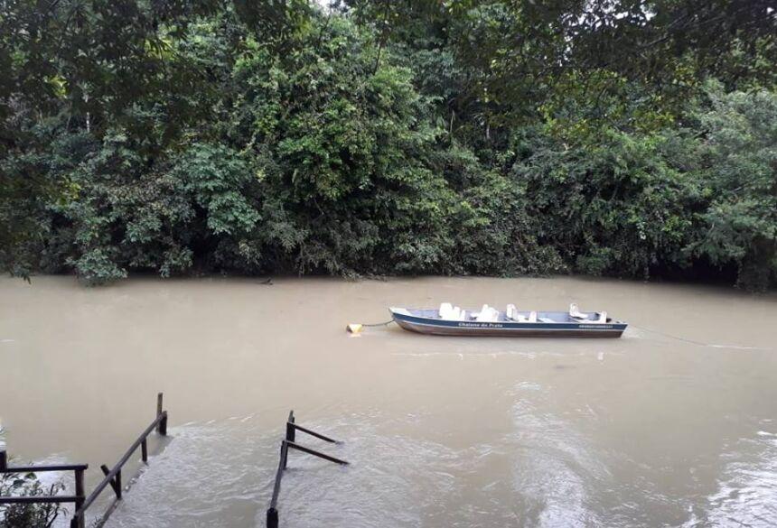 Águas estão turvas novamente, após chuvas - Foto: Foto: Instituto Amigos Rio da Prata