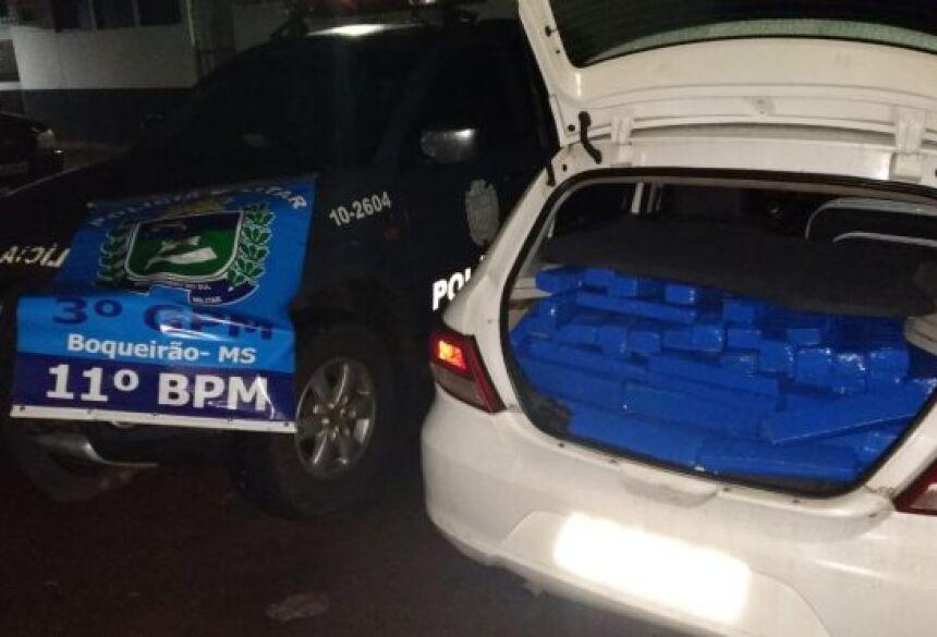 PM prende 3 com mais de 300 quilos de maconha no Distrito do Boqueirão em Jardim (MS)