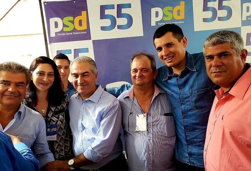 Senador Nelsinho, Prof. Loiva, Governador, Schiavo (PSD Bonito), Capacete e Pantera (vereadores do PSDB Bonito)