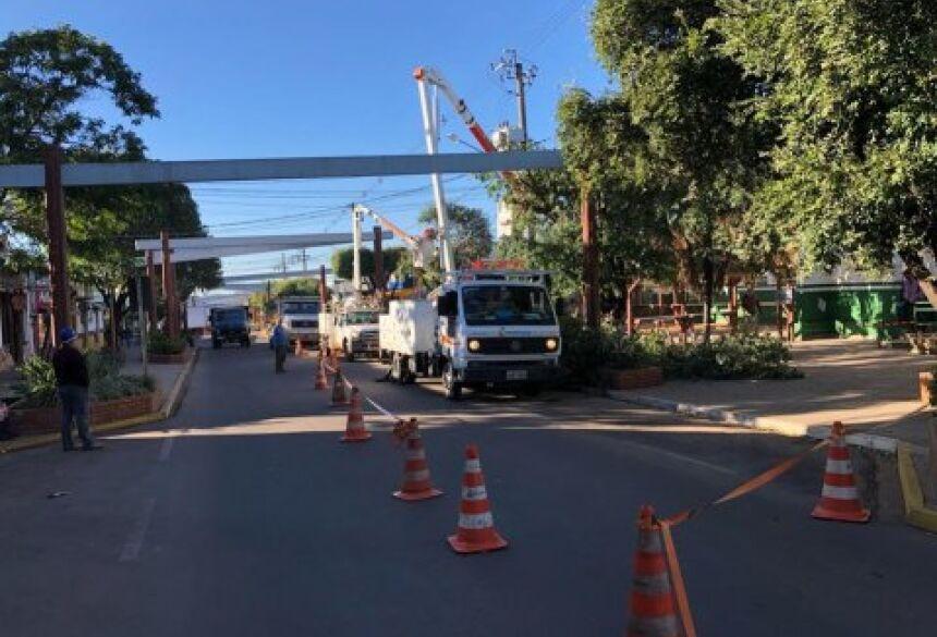 Trabalhos começaram pelo centro da cidade devido à alta temporada. Foto: Jabuty