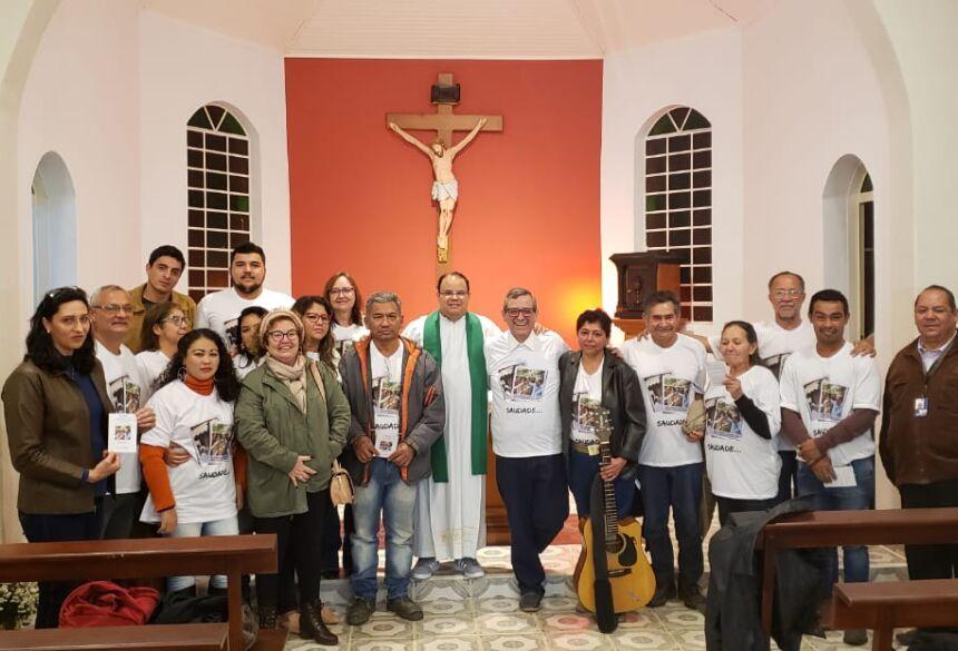 Padre Israel Moura dos Santos, Bosco, Márcia e amigos do Professor Waldemar.